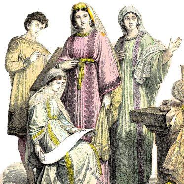 Kleidung der frühen Christen im Mittleren Osten vom 4. bis 6. Jahrhundert.