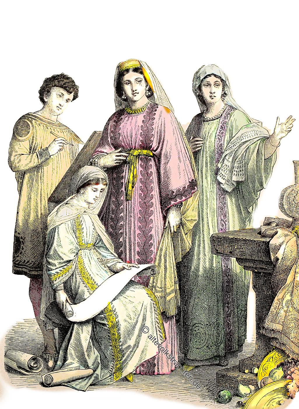 Urchristen, Christen, Kleidung, Mittlerer Osten, Mittelalter, Israel, Arabien, Münchener Bilderbogen,