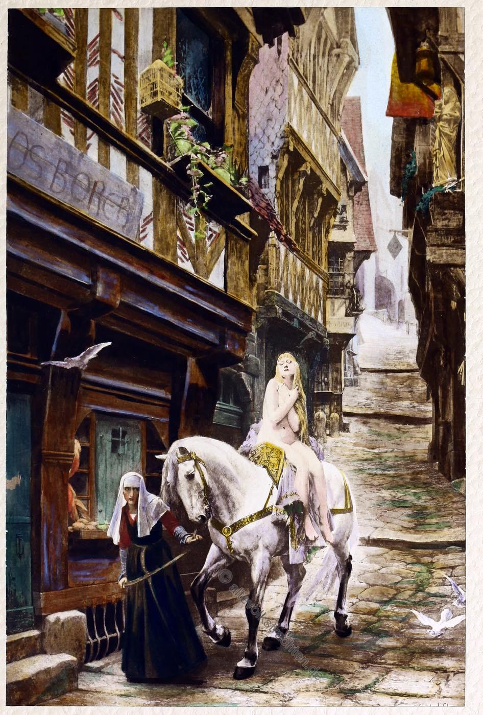 Lady Godiva, Jules Joseph Lefebvre, painting,