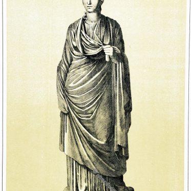 Kleidung einer Römerin. Die Tunica interior, die Stola und die Palla.