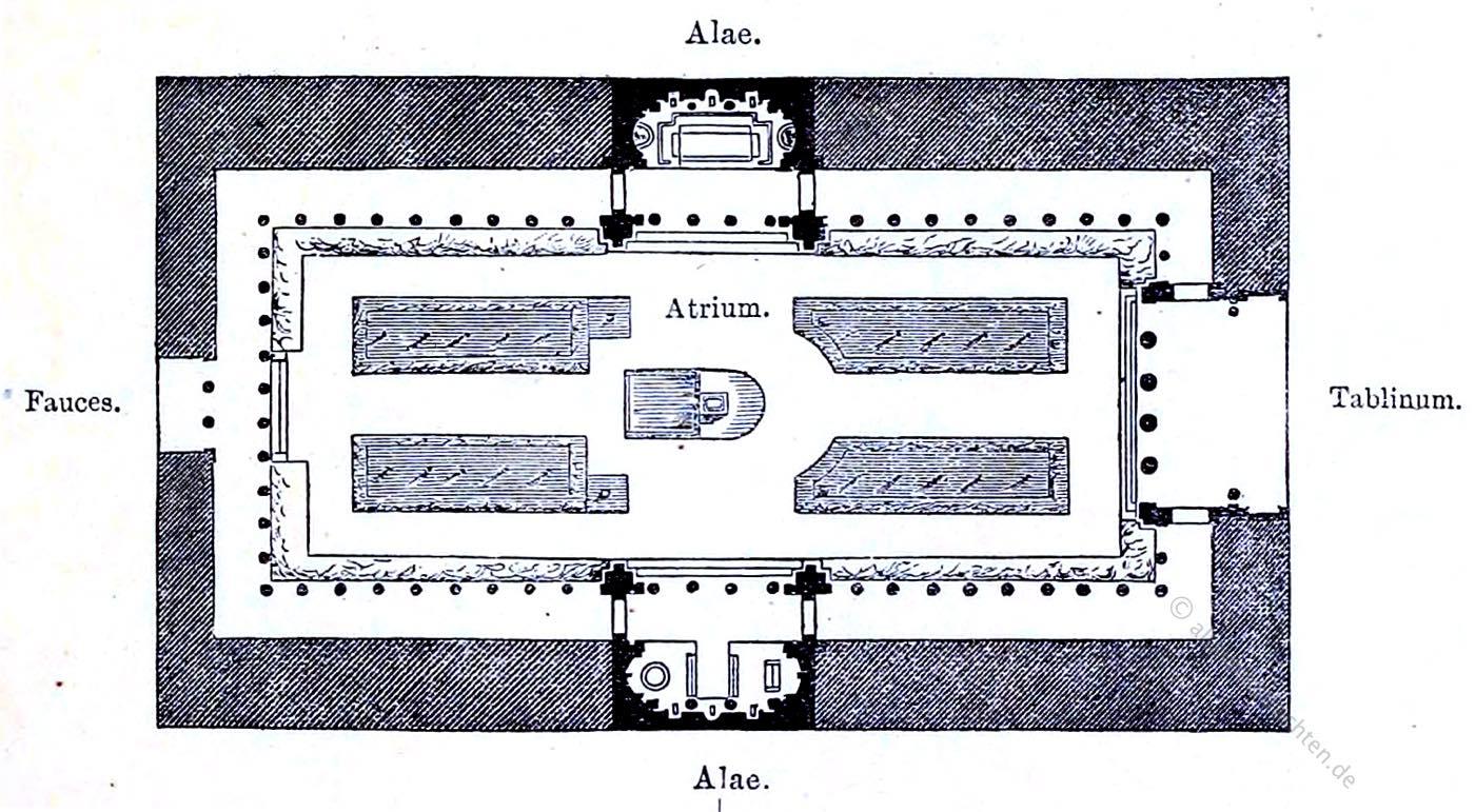 Grundriss, römisch, Palast, Antike