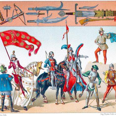 Die Ordonnanzkompanien. Französisches Militär des Mittelalters.
