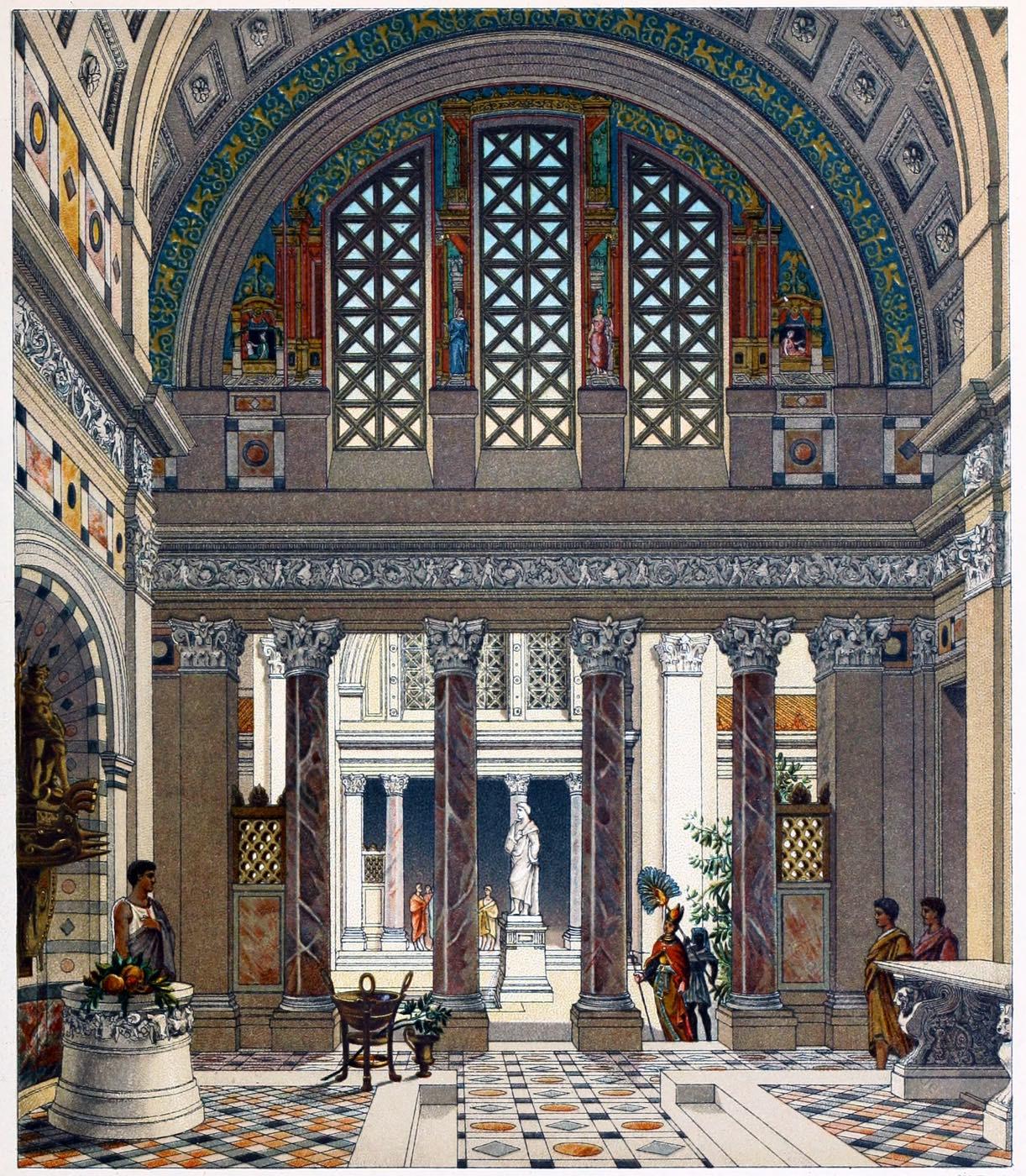 Rom, Palast, Antike, Atrium, Auguste Racinet,