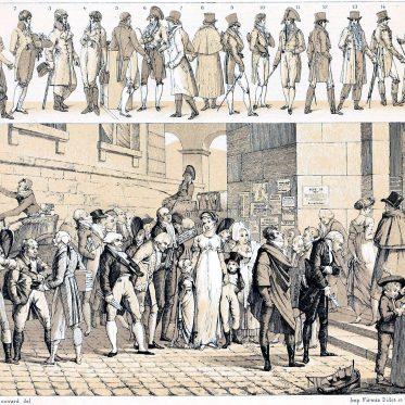 Modefiguren Frankreich. Die Mode der Dandys 1801-1805.