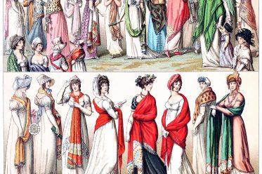 Schal, Mode, Empire, Direktorat, Konsulat, Frankreich, Racinet
