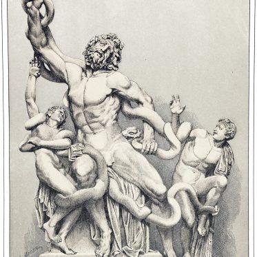 Die Laokoon-Gruppe von Agesander aus Rhodus. Kunstwerk der Antike.
