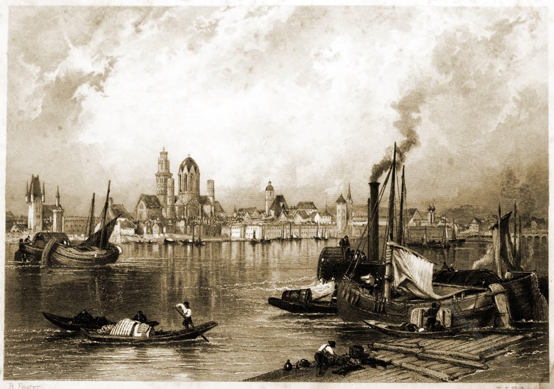 Mainz, Rhein, malerische, Landschaft, Stadtansicht