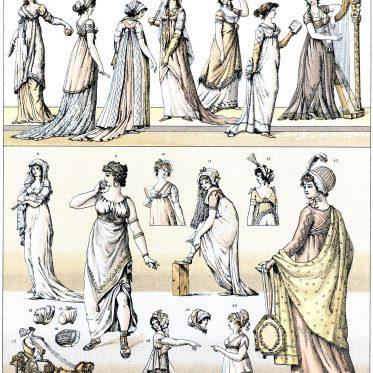 Mode des Klassizismus. Moden des Direktoriums und des Konsulats.