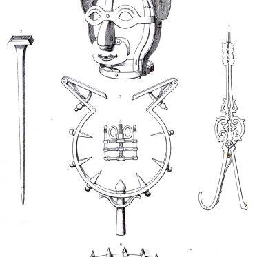 Historische Werkzeuge der körperlichen Bestrafung früherer Jahrhunderte.