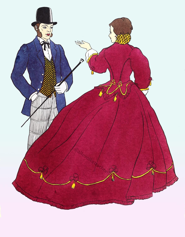 Krinoline, viktorianische, England, Mode, Kostüm,