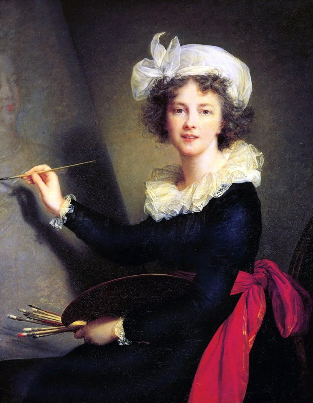 Élisabeth Vigée-Lebrun, Selbstbildnis, rokoko, Kalssizismus, Künstlerin, Frankreich