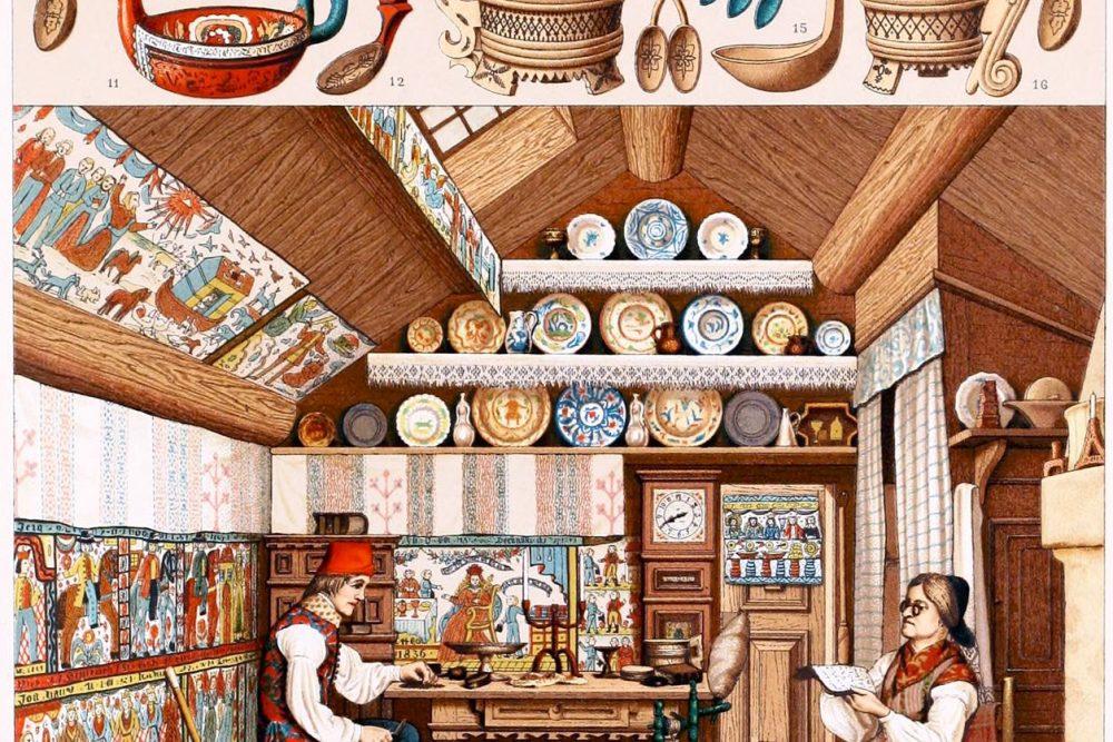 Ryggastuga, Schweden, Bauernhaus, Auguste Racinet