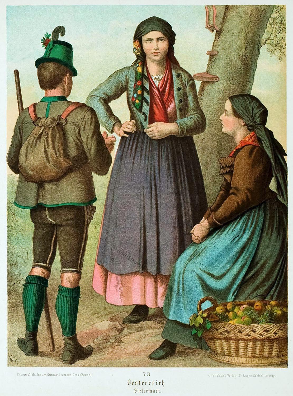 Frauentrachten, Dirndl, Volkstrachten, Österreich, Steiermark, Trachten, Musikkapelle,