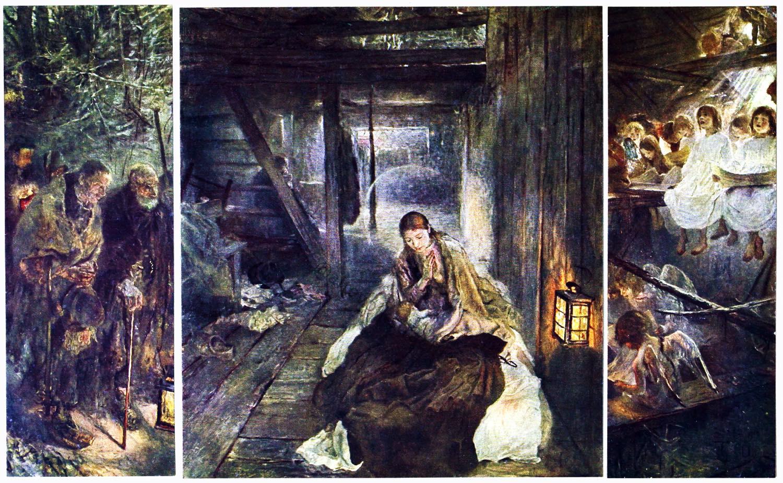 Münchner Sezession, heilige Nacht, Triptychon, Fritz von Uhde, Maler,