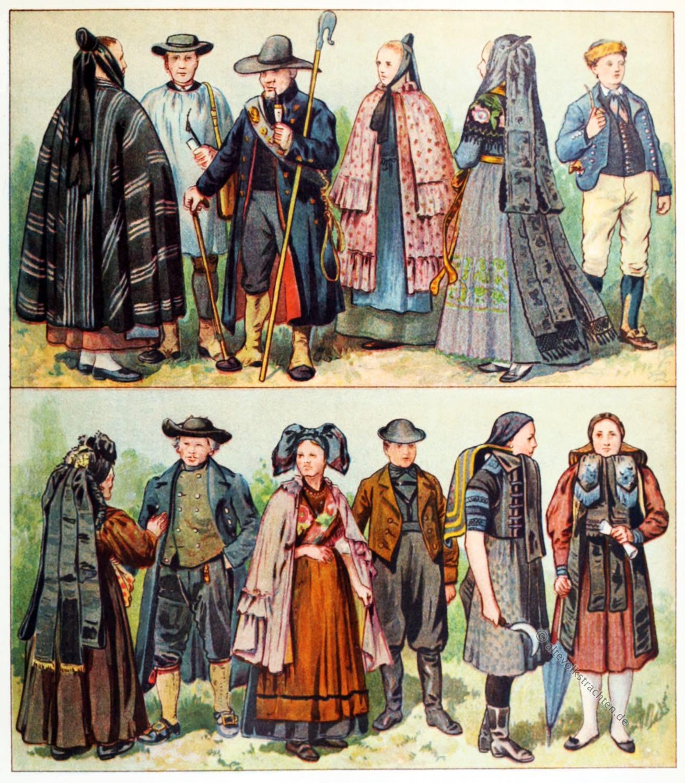 Volkstrachten, Harz, Thüringen, Schäfer, Schäferstab, Stolberg, Dannstedt, Ettersberg, Altenburg