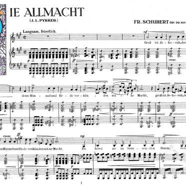 Die Allmacht von Franz Peter Schubert op.79 no.2
