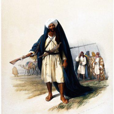 Besharah, vom Stamm der Beni Said auf dem Weg nach Petra.