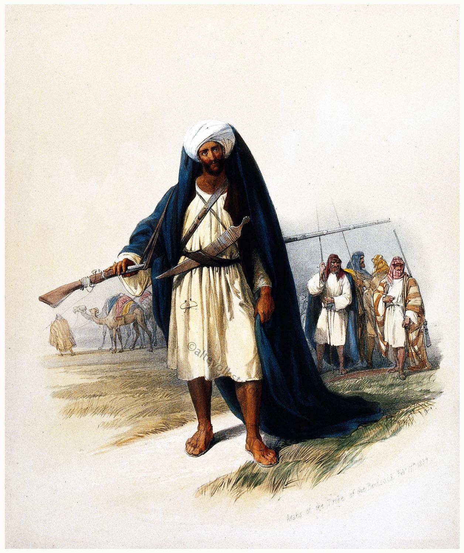 Araber, Beni Said, Kleidung, Kostüm, Beduinen,
