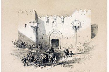 Jerusalem, Damaskustor, Heilige Land, David Roberts