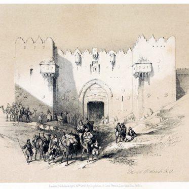 Das Damaskustor von Jerusalem. Das Heilige Land.