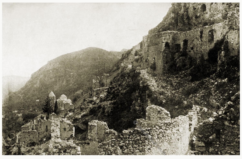 Faustburg, Goethe, Mistra, Lakonien, Reisinger, Griechenland