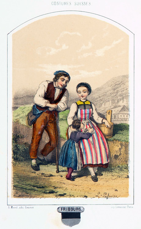 Costumes, Suisses, Friborg,