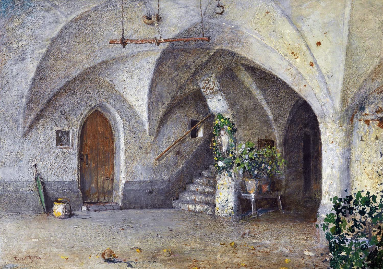 Robert Russ, Architektur, Hausflur, Gasthaus , Kantioler,  Südtirol, Tirol, Architektur