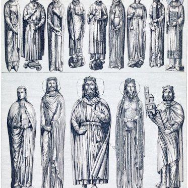 Kleidung der vornehmen Stände. Frankreich 12. und 13. Jahrhundert.