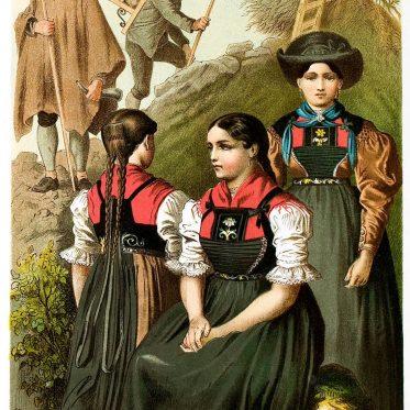 Die Männer und Frauentracht aus dem Tiroler Lechtal.