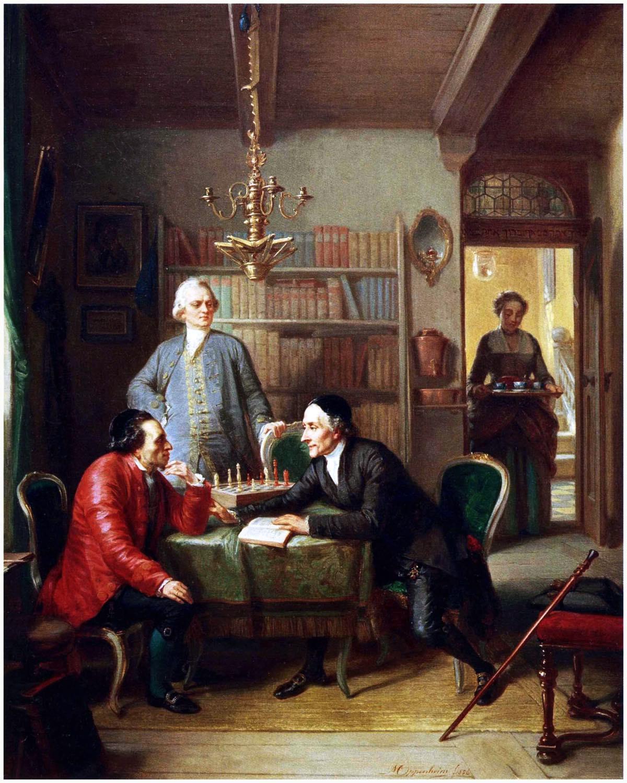 Moses Mendelssohn, Lessing, Lavater, Moritz Oppenheim