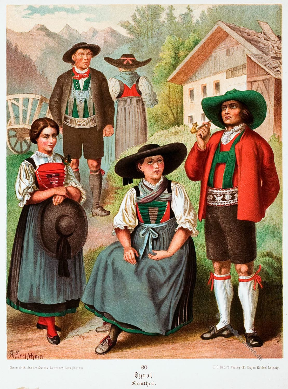 Trachtenmode, Volkstrachten, Trachten, Sarntal, Südtirol, Tirol,
