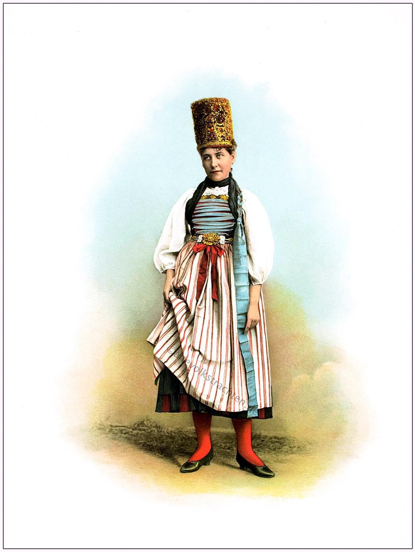 Brautkrone, Schweiz, Trachtenfest, Schaffhausen, Volkstracht, Schäppeli, Heierli,