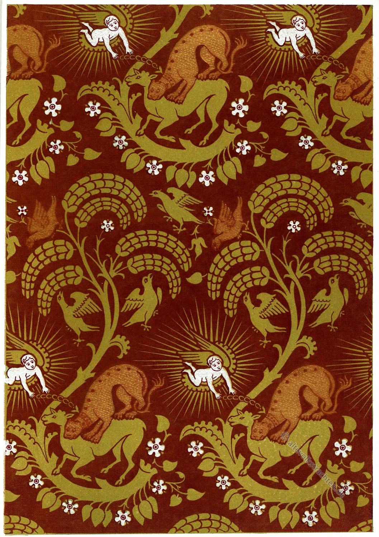 Engel, Gewebe, Textildesign, Mittelalter, arabisch, Sarazenen,