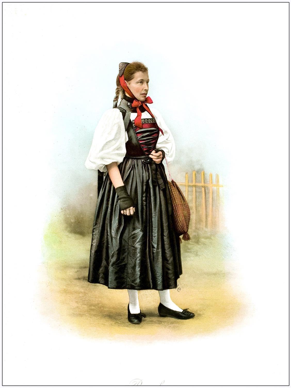 Schweizer, Trachtenfest, Trachtenmode, Kanton, Basel, Basler Trachten,