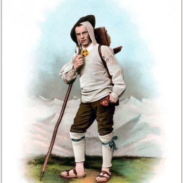 Urner Senn. Historische Tracht aus dem Kanton Uri, Schweiz.