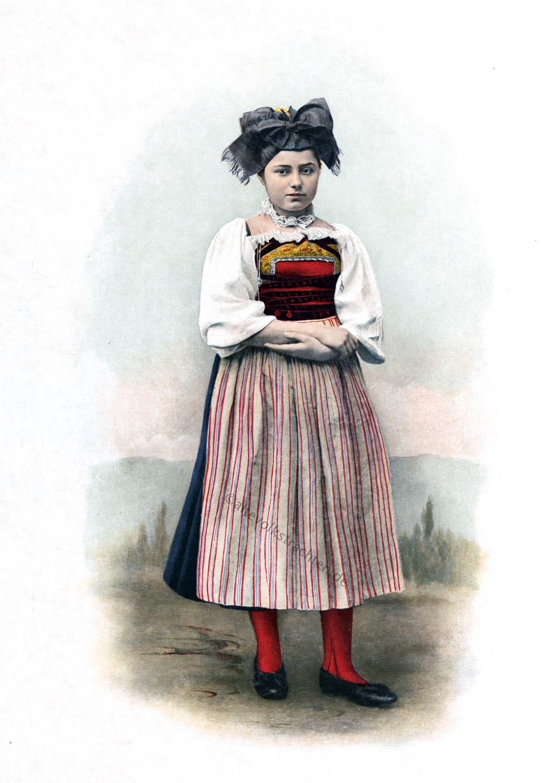 Trachtenmode, Kanton, Aargau, Fricktal, Schweizer Tracht, Volkstrachten,
