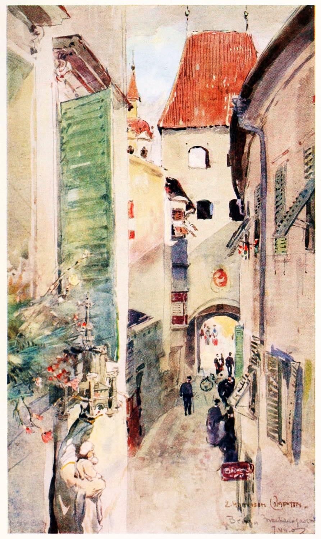 Brixen, Südtirol, Illustration, Harrison Compton