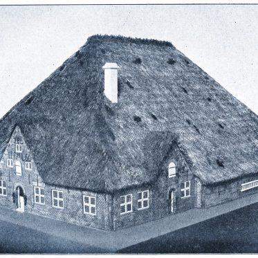 Ein friesisches Haus, sog. Hauberg von 1760 aus Eiderstedt.