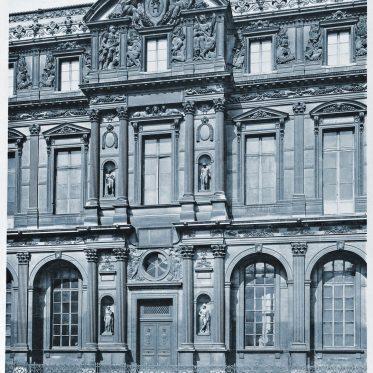 Paris, Louvre. Lescot-Flügel der Cour carrée von Pierre Lescot.