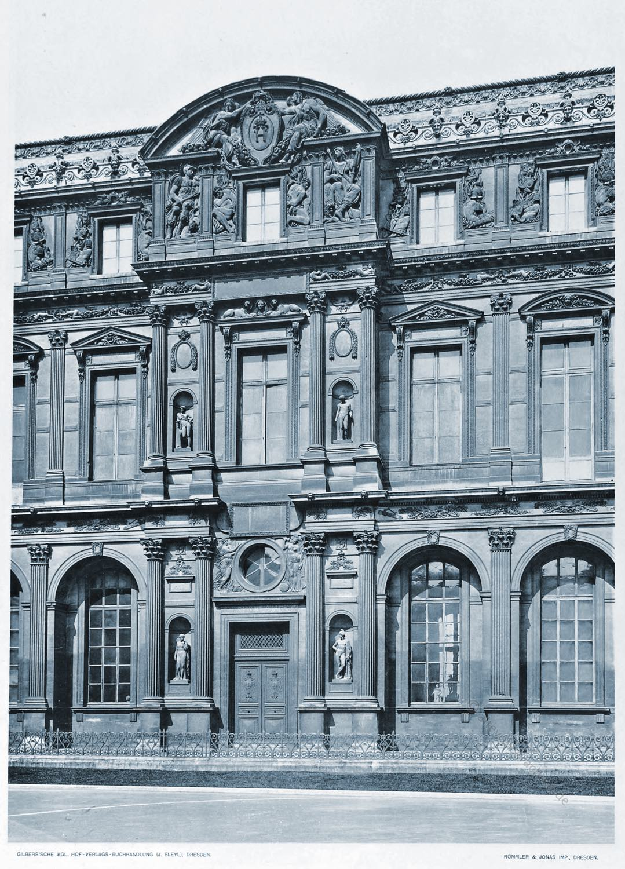 Lescot-Flügel , Cour carrée, Pierre Lescot, Paris, Louvre, Renaissance, Architektur, Cornelius Gurlitt