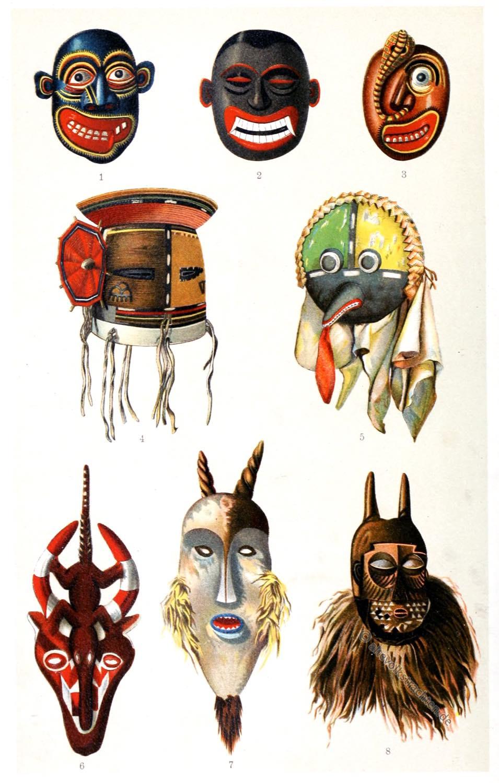 Frobenius, Masken, Hobi, Westafrika, Krankheitsdämonen