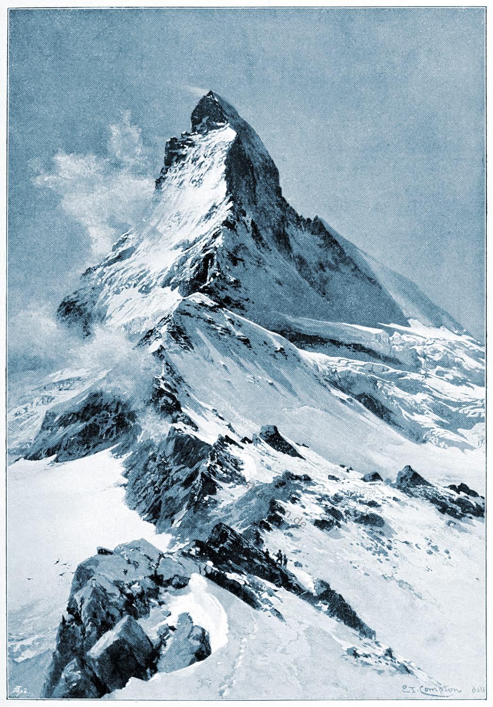 Matterhorn, E. T. Compton, Zermatt, Walliser Alpen,