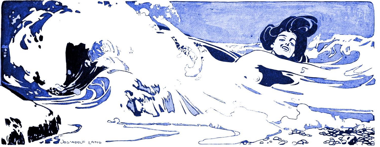 Melusine, Nixe, Jugendstil, Illustration