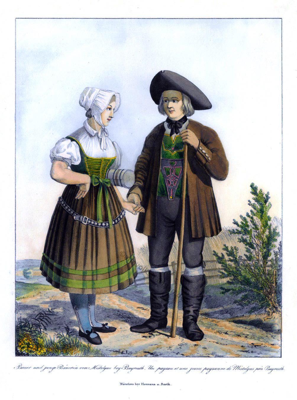Trachtenmode, Mistelgau, Franken, Oberfranken, Bauerntrachten, Altfränkische, Volkstrachten