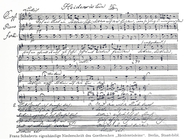 Franz Schubert, Lied, Heidenröslein, Goethe,