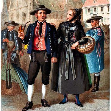 Ulm. Landestrachten des Donaukreises. Königreich Württemberg.