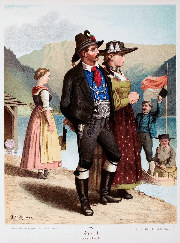 Trachtenmode, Volkstrachten, Achensee, Tirol, Österreich, Unterinntaler Trachten, Albert Kretschmer