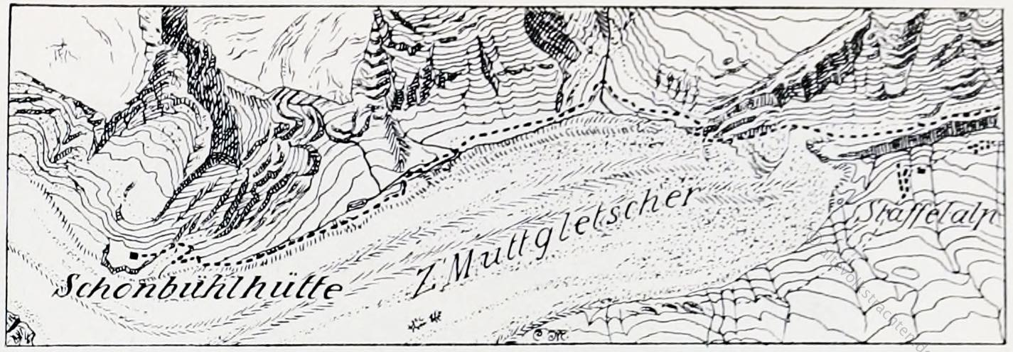 Schönbielhütte, Topographie, Schweiz, Walliser Alpen