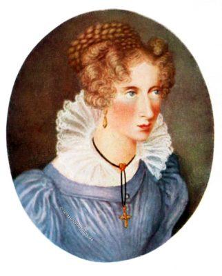 Annette von Droste-Hülshoff, Schriftstellerin, Porträt, Romantik, Biedermeier, Restauration
