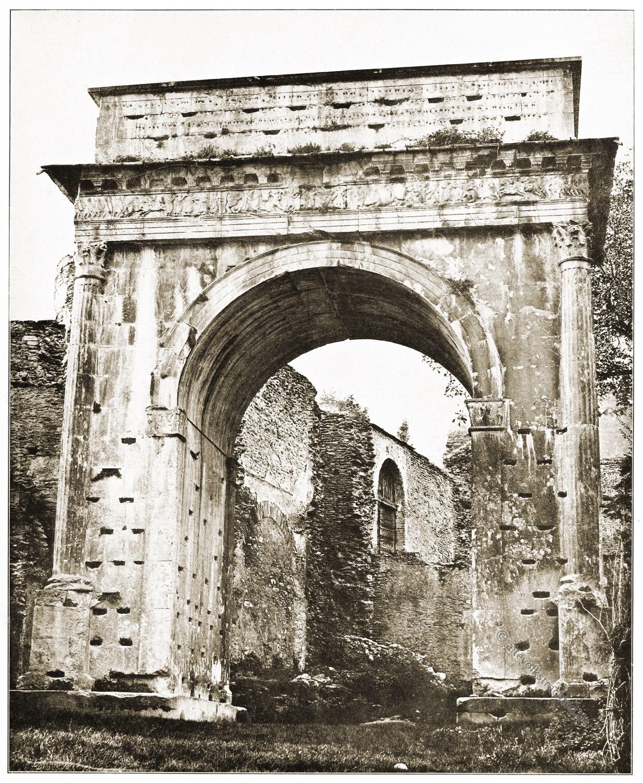 Antike, Baukunst, Rom, Architektur, Triumpfbogen, Susa, Mt. Cenis,
